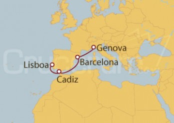 Crucero Italia, España, Portugal