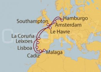 Crucero Francia, Portugal, España, Holanda, Alemania y Reino Unido