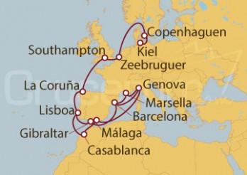 Crucero De Kiel (Alemania) a Génova (Italia)