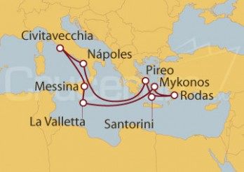 Crucero Civitavecchia (Roma), Sicilia, Malta y Grecia