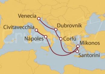 Crucero Venecia, Croacia, Grecia, Nápoles, Civitavecchia (Roma)