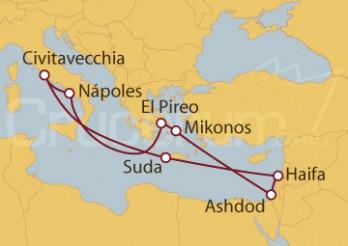 Crucero Civitavecchia (Roma), Chania, Israel, Grecia