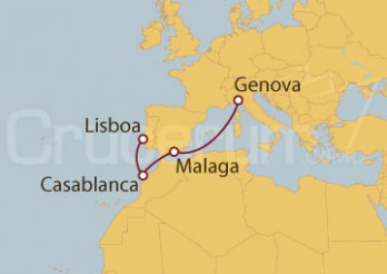 Crucero Génova (Italia), Málaga, Casablanca y Lisboa
