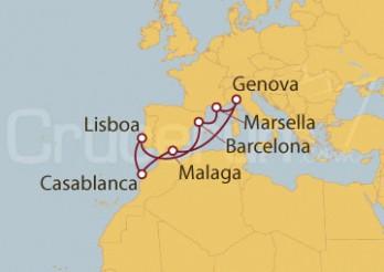 Crucero Lisboa (Portugal), España, Francia, Italia y Marruecos