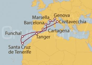 Crucero Génova (Italia), Marsella, España y Tánger (Marruecos)