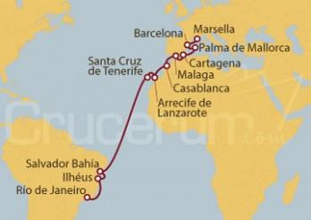 Crucero De Marsella (Francia) a Río de Janeiro (Brasil)