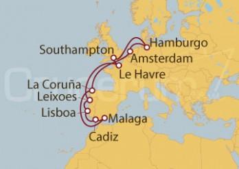Crucero Le Havre (Francia), Portugal, España Holanda y Alemania desde Southampton