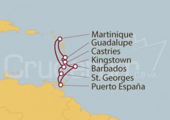 Crucero Pointe A Pitre, Guadalupe, Castries (Antillas), Fort de France (Martinique)