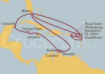 Crucero Estados Unidos, Aruba, Jamaica, Gran Caimán, México, Antigua y Barbuda, St. Kitts, Islas Vírgenes ...