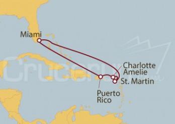 Crucero Estados Unidos, Puerto Rico, Islas Vírgenes (Estadounidenses), St. Maarten