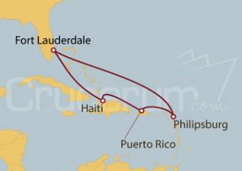 Crucero Fort Lauderdale (EEUU), St.Marteen, Puerto Rico, Haití