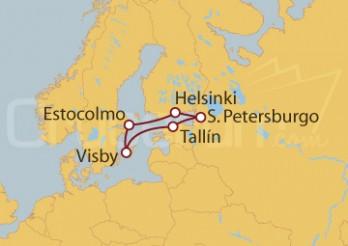 Crucero Finlandia, Rusia, Estonia, Suecia