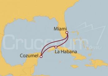 Crucero La Habana y Cozumel (México)