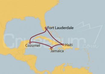 Crucero EE.UU, Jamaica, México
