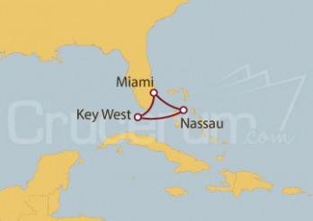 Crucero Miami (EEUU), Nassau, Bahamas, Key West