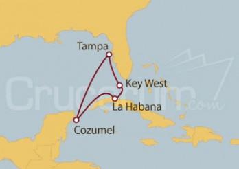 Crucero Tampa (EE UU), Key west, La Habana y Cozumel