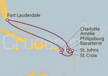 Crucero Fort Lauderdale (EE UU), Islas Vírgenes y St. Marteen