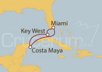 Crucero EE UU y México desde Miami