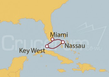 Crucero Miami (EEUU), Key West, Nassau, Bahamas