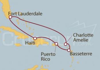 Crucero Fort Lauderdale (EEUU), Puerto Rico, Haití, Islas Vírgenes
