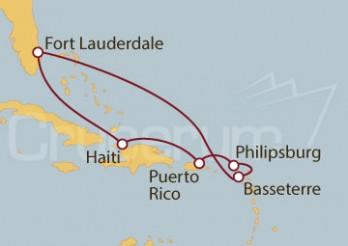 Crucero Fort Lauderdale (EEUU), Haití, Puerto Rico y St. Marteen