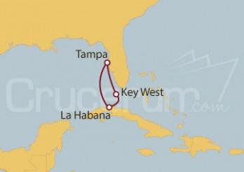 Crucero Tampa (EE UU), Key West y La Habana