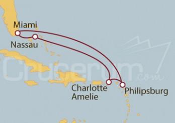 Crucero Miami (EEUU), St.Marteen, Islas Vírgenes y Bahamas