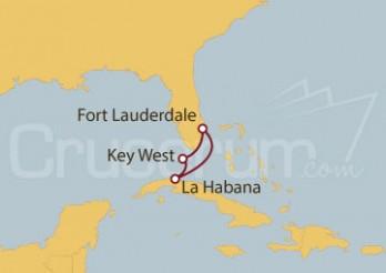 Crucero Fort Lauderdale (EE UU), Key West (EE UU) y La Habana