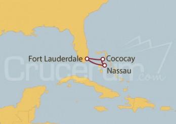 Crucero Nassau y Cococay (Bahamas) desde Fort Lauderdale (EE UU)