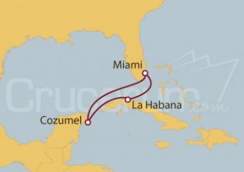 Crucero Miami (EE UU), La Habana y México