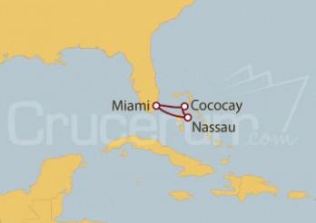 Crucero Miami (EEUU), Cococay, Nassau, Bahamas