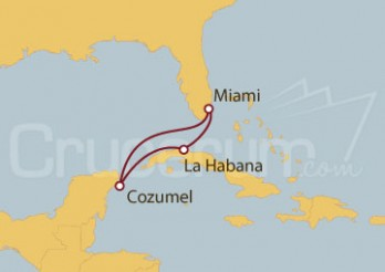 Crucero EEUU, Cuba, México