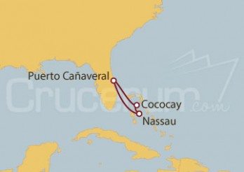 Crucero Puerto Cañaveral (Florida) y Bahamas