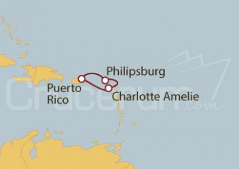 Crucero San Juan (Puerto Rico), Islas Vírgenes, St.Marteen