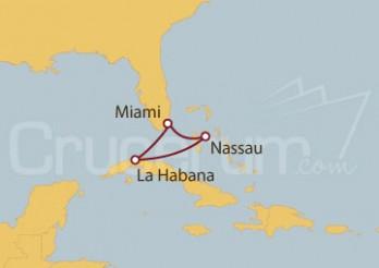 Crucero Miami (EE UU), Nassau (Bahamas) y la Habana