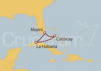 Crucero Miami (Florida), La Habana y Cococay (Bahamas)