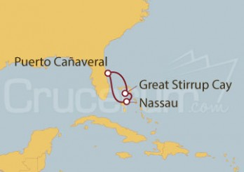 Crucero Minicrucero 5 días: Puerto Cañaveral (Florida) y Bahamas