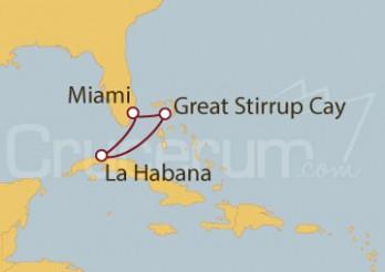 Crucero Miami (EEUU), La Habana y Bahamas