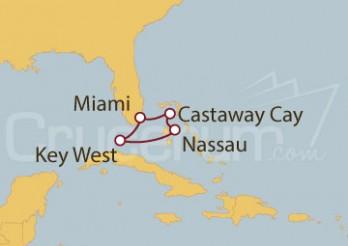 Crucero Miami (EEUU), Nassau (Bahamas), Key West (EEUU)