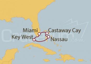 Crucero Miami, Key West (EEUU), Nassau (Bahamas) y Castaway Cay
