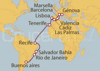 Crucero De Génova (Italia) a Buenos Aires