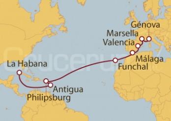 Crucero De Génova (Italia) a La Habana