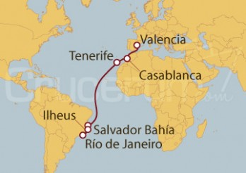 Crucero De Valencia (España) a Río de Janeiro (Brasil)