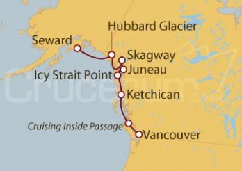 Crucero Seward (Alaska), EEUU, Vancouver (Canadá)