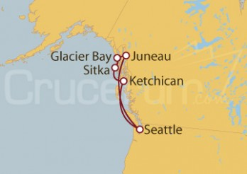 Crucero Alaska y EE UU desde Seattle (EE UU)