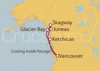 Crucero Alaska y EE UU desde Vancouver (Canadá)