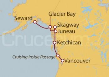 Crucero Vancouver (Canadá), Alaska, EEUU