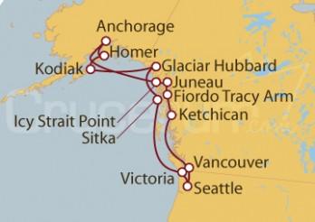 Crucero Seattle (EEUU), Ketchican, Juneau , Alaska, Sitka, Kodiak, British Columbia