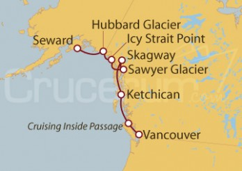 Crucero Alaska, EEUU y Canadá