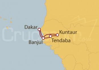 Crucero Ríos de Gambia y Senegal